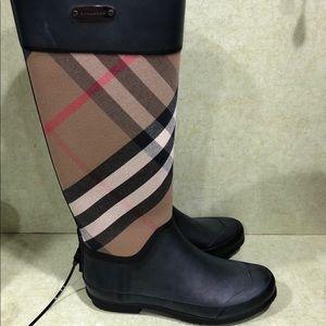 Burberry Black House Check Rain Boots